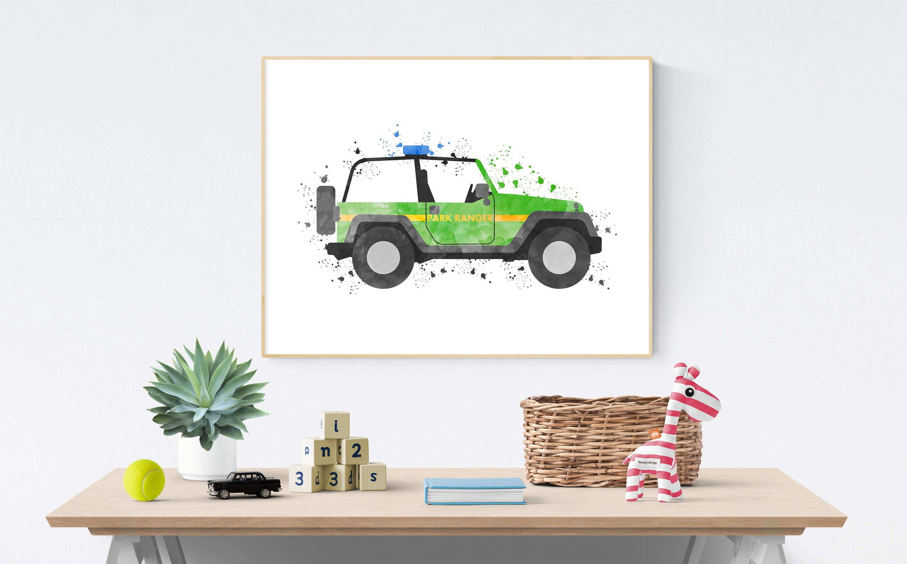 Nursery Car Print Jeep Decor Terrain Car Printable Car Etsy
