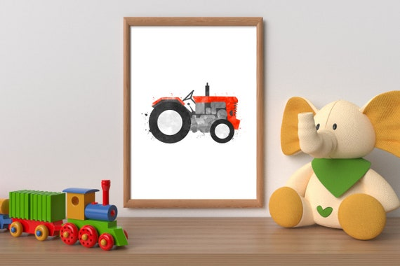 Tractor wall art printable tractor tractor wall decor | Etsy