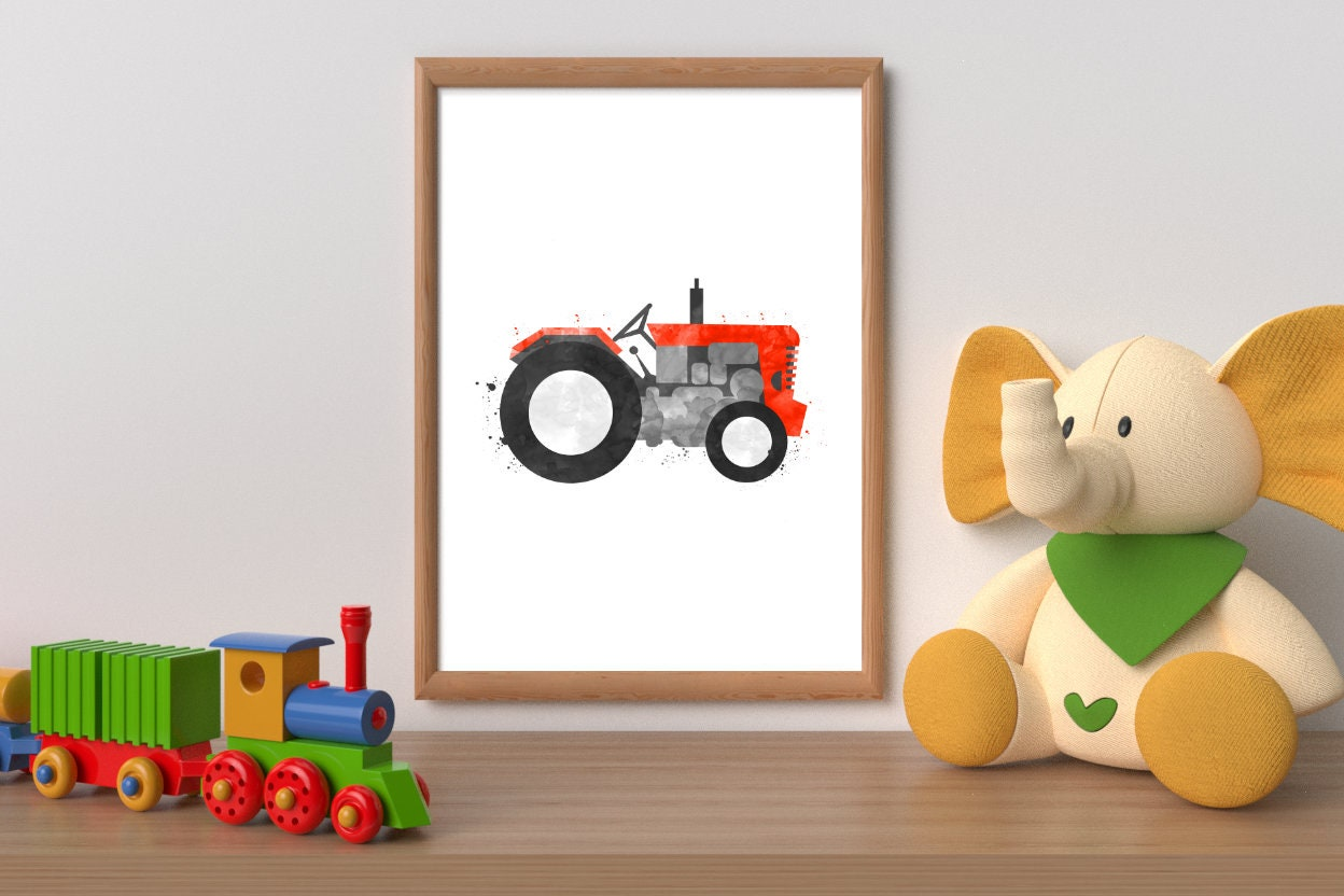 Tractor Wall Art Printable Tractor Tractor Wall Decor Etsy