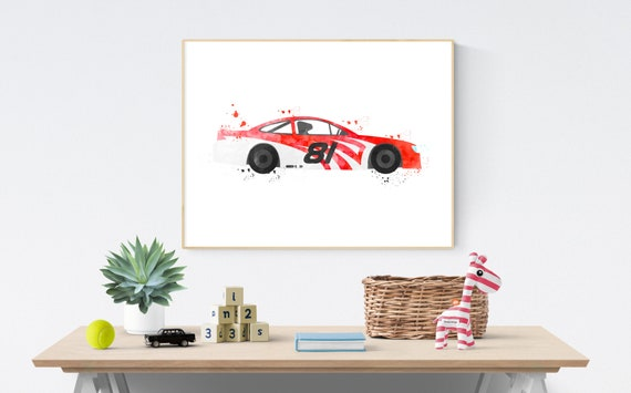 Race Car Theme Nursery, Toddler Boys Print, Racing Wall Art, Race Car  Digital, Big Boy Bedroom, Car Print For Boy, Race Car Wall Decor