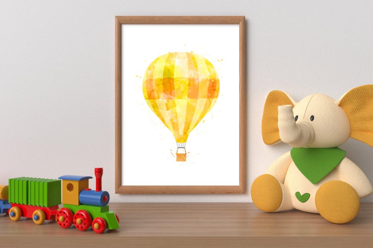 Hot air balloon printable balloon print nursery girl decor   Etsy