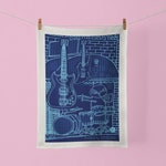 Tea Towel Music Lover Happy Places Birthday House Warming Gift