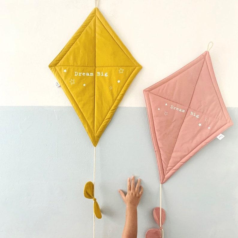 Wall hanging fabric kite