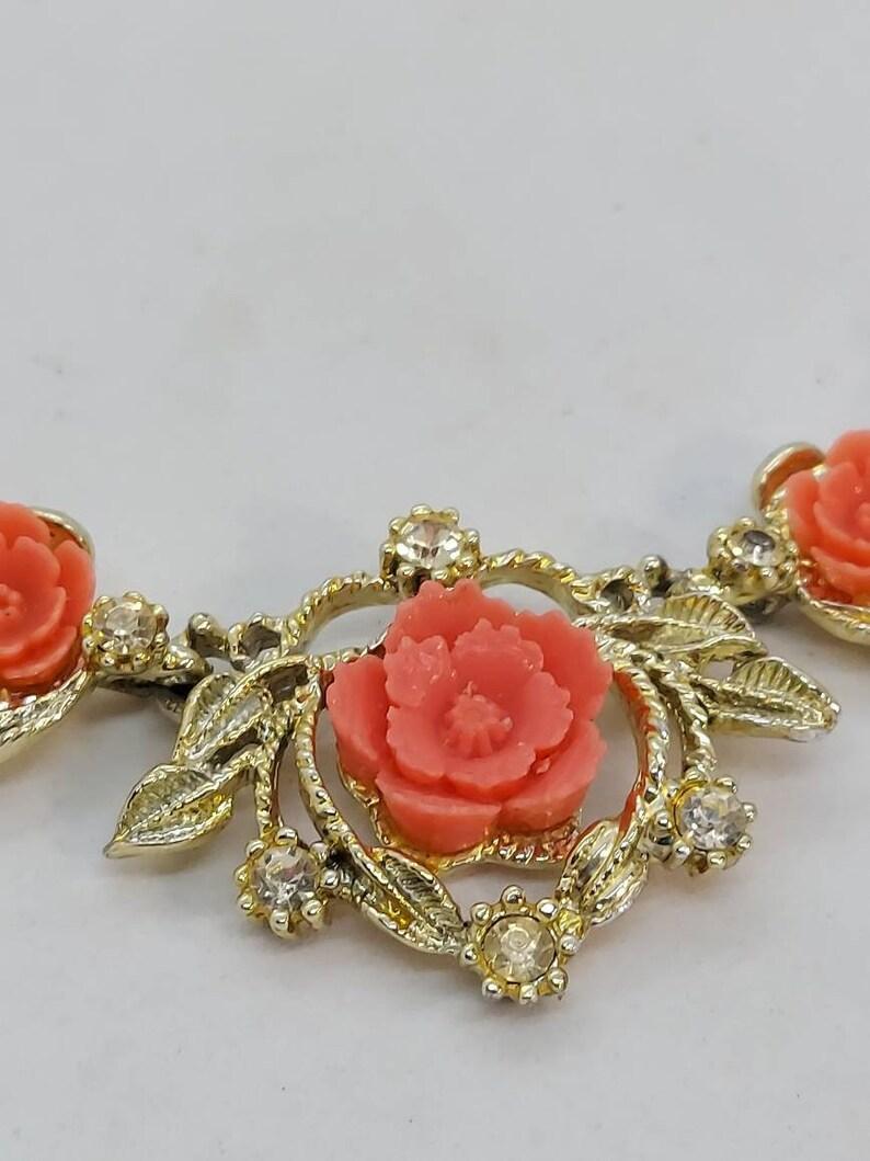 Vintage faux coral necklace