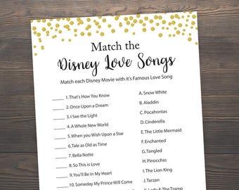 Disney Song Game Etsy
