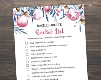Bucket list game etsy christmas bachelorette bucket list bridal shower games hens party games bachelorette party games bucket list wedding shower j020 junglespirit Images