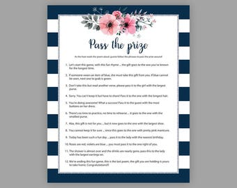 pass the prize bridal shower games pass the parcel game floral bridal shower bachelorette party games rhyme game parcel game j022