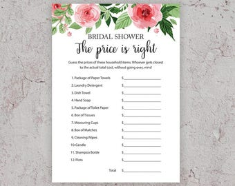 price is right bridal shower games floral bridal shower bridal shower price is right bachelorette party games guess the price j003