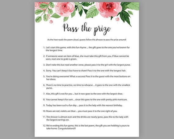 Get 1 now prizes for bridal shower
