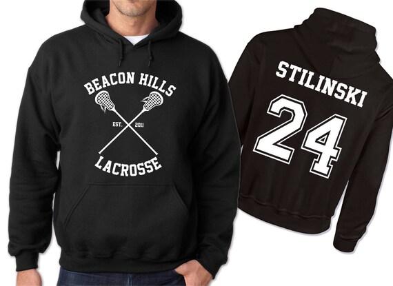 Negra Teen Lacrosse Wolf 24 Etsy Sudadera Stiles Con Stilinski npwqEIaYxO