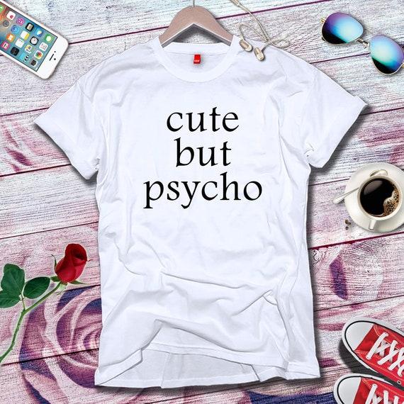 Mignon mais Psycho de - T-shirt débardeur qualité actuelle de Psycho cadeaux dames moderne Vintage Old School 90s 80s 70s Style Design amusant drôle unisexe pour hommes 7441df
