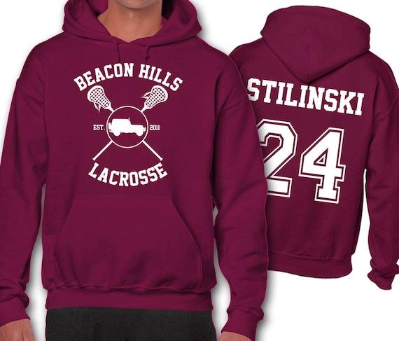 el más nuevo d99a8 41e94 Hoodie Hale McCall Lahey Borgoña sudadera Unisex Lacrosse Beacon Hills de  nuevo Jeep Teen Wolf la Stilinski 24 Stile