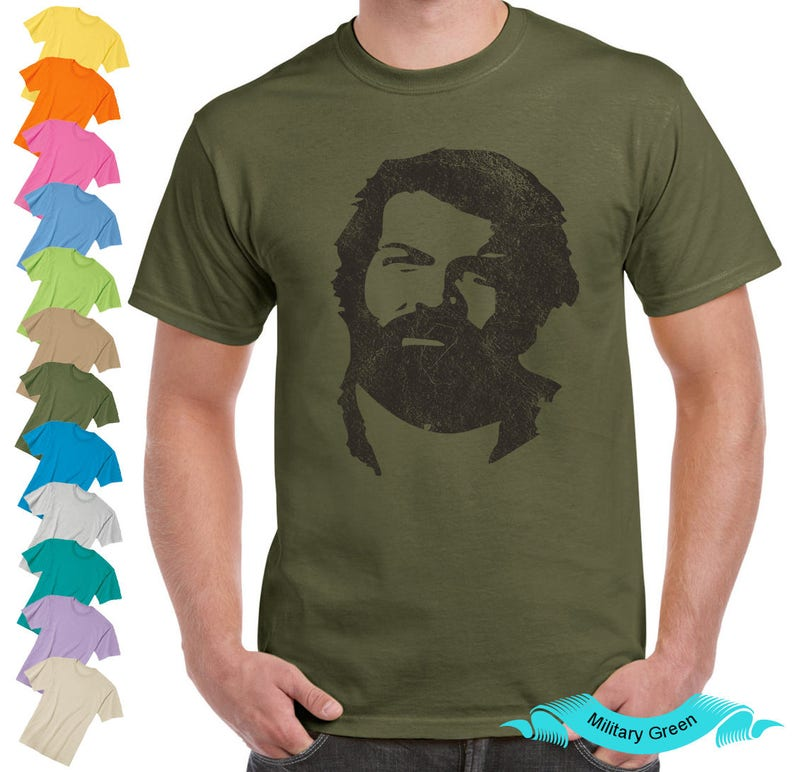 Bud Spencer Inspired Vintage Old School Style Design Unisex Mens Ladies T Shirt Tank Top Present Gift