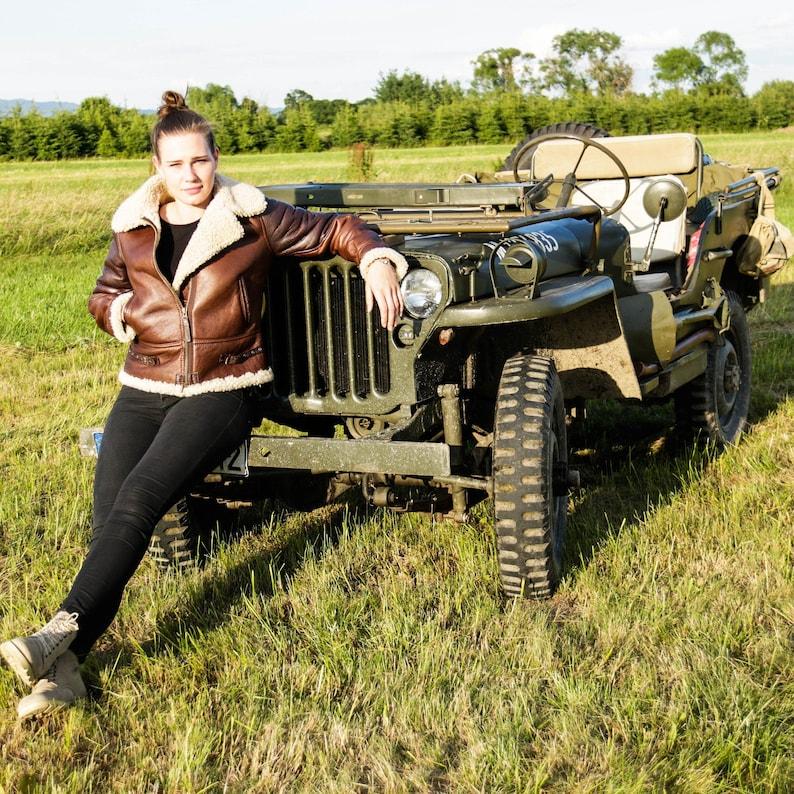 1940s Women's Outfit Inspiration LADIES PILOT JACKET $525.00 AT vintagedancer.com