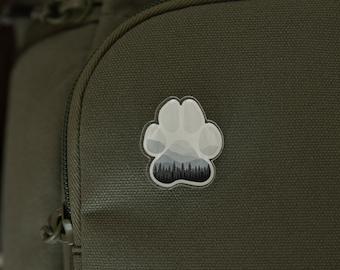 Adventure Paw Acrylic Pin | Travel, Exploring Nature, Paw Footprint, Dog mom gifts, Jacket, Shirt, Hat, Backpack, Photographer