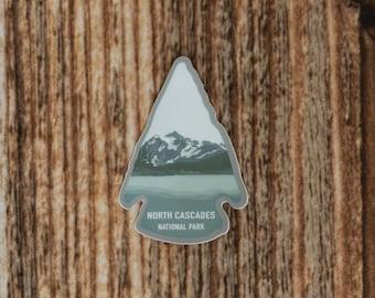 North Cascades National Park Sticker. Washington State Souvenir, Arrowhead NP, Vinyl, Decal, Bumper, Scratch Resistant, Window, Laptop, Hike