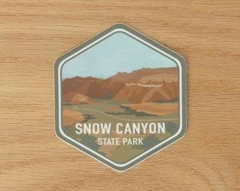 Snow Canyon State Park Sticker | Saint George, Washington County, Southern Utah, Souvenir, Vinyl, Decal, Waterproof, Scratch Resistant