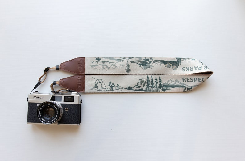 National Park Inspired Camera Strap Outdoor Adventure Green Camera Strap Only