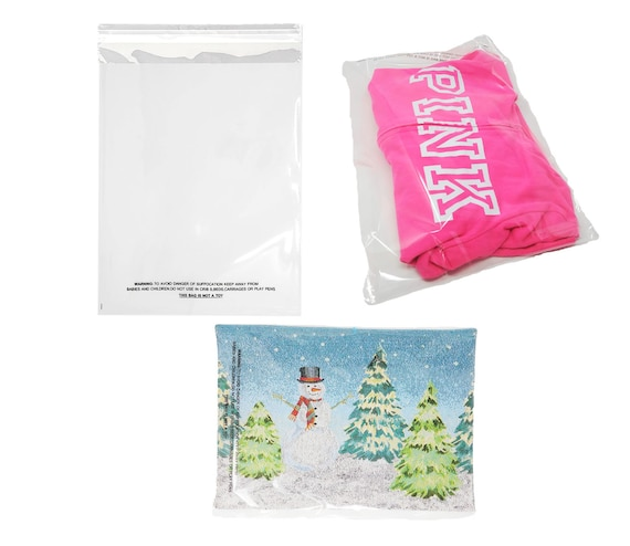 MULTI SIZE Crystal Clear Gusseted Cello Poly Plastic Bags Candy Cookie 1.5 Mil
