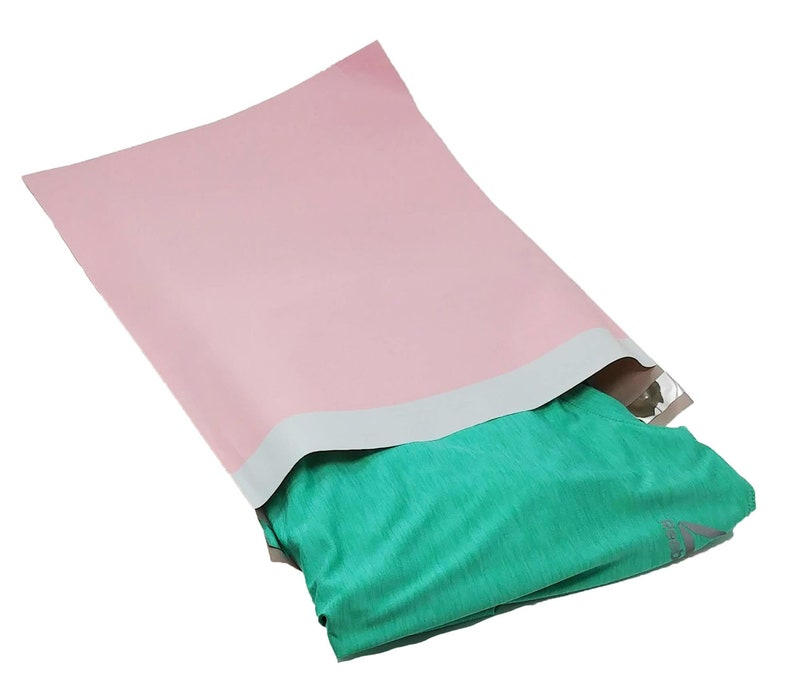 12x15 Inch Light Pink Self Sealing Adhesive Shipping Colorful Design Mail Envelope bags Inner lining 10 12x15.5 Pastel Pink Poly Mailers