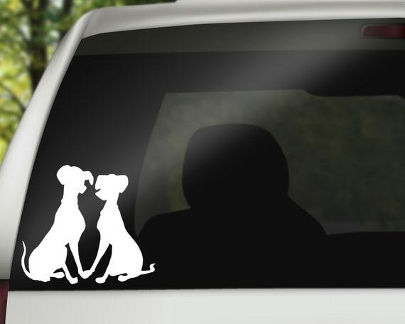 disney Pongo and Perdita silhouette vinyl stickers phone glass laptop
