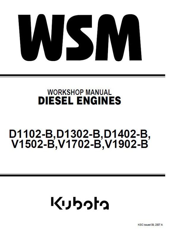 kubota d1102 b d1302 b d1402 b v1502 b v1702 b v1902 b diesel rh etsy com Kubota V1902 Engine Specs Kubota V1902 Engine Parts