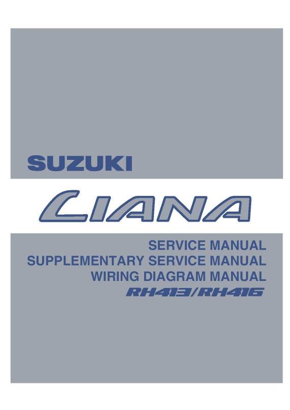 Suzuki Liana Electrical Wiring Diagram - Electrical Drawing Wiring ...