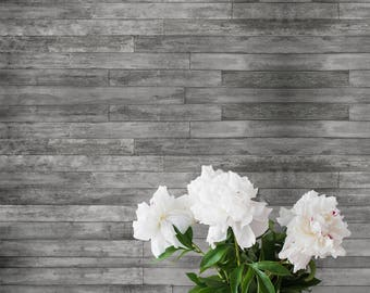 Self Adhesive Removable Wallpaper Gray Distressed Rustic Wood Plank Panels Peel and Stick Wall Decor Washable Vinyl CC108