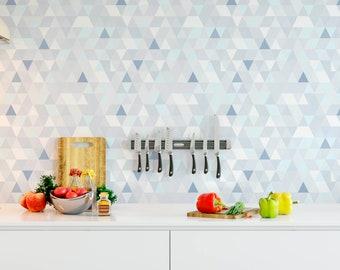 Greenery Removable Wallpaper Chevron Self Adhesive Wall