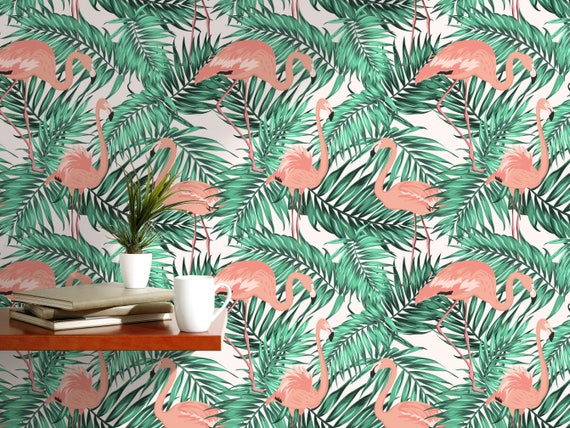 Peel-and-Stick Removable Wallpaper Leaves Palm Botanical Tropical Jungle