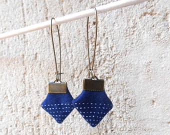 Textile earrings light - unique