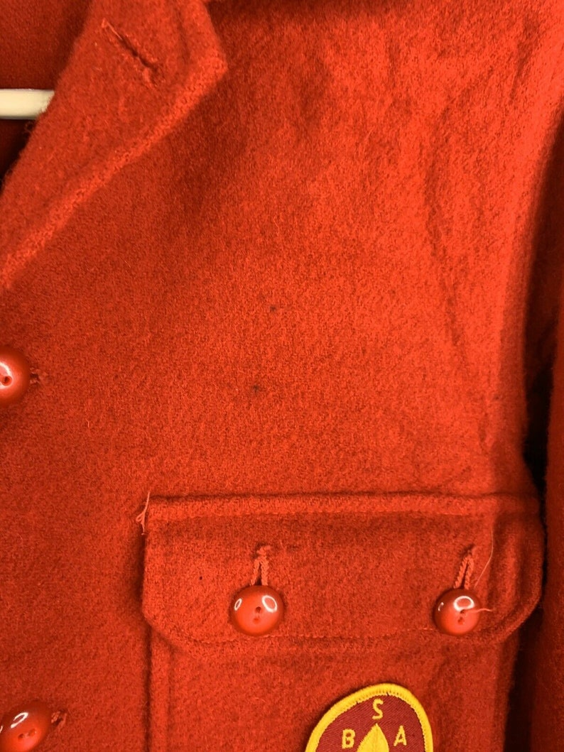 Vintage 70/'s  BSA Boy Scouts America Red Wool Jacket Order of the Arrow Size 18