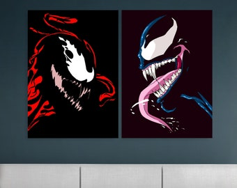 Venom And Carnage Poster Set Venom Poster Carnage Poster Venom Art Carnage Art Venom Print Carnage Print Venom Wall Art Carnage Wall Art