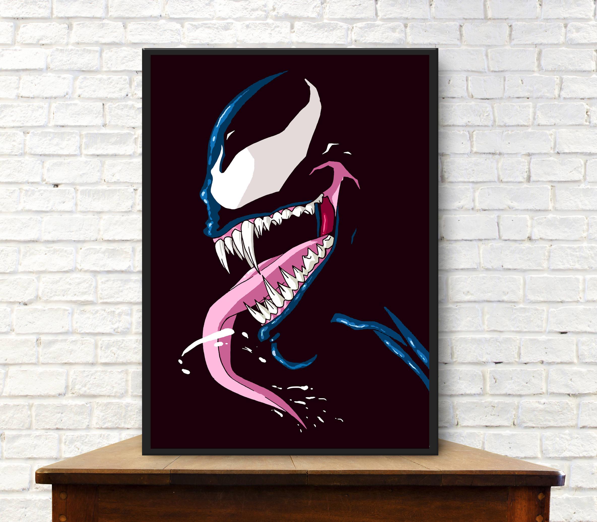 Venom poster venom poster minimalist poster venom print venom wall art venom gift venom minimal print venom art