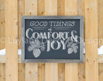Good Tidings of Comfort and Joy SVG file