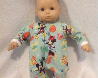 """Bitty Baby 15/"""" doll Pink purple unicorn Sleeper Pajamas pjs girl outfit clothes"""