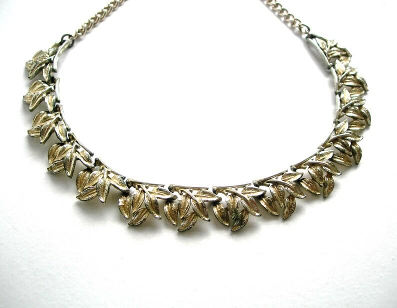 necklace,silver tune,vintage,linked Art Deco