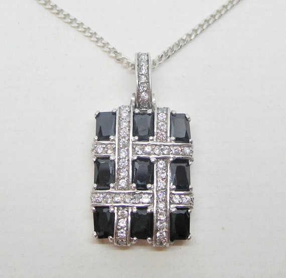 Avant-garde sparkling sterling silver pendant