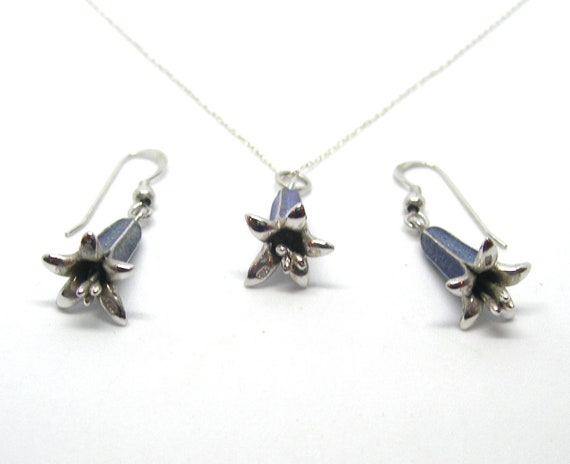 Blue bells Sterling silver jewellery set - image 3