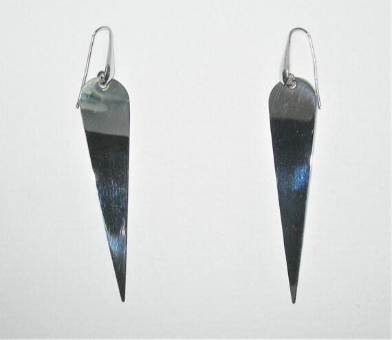 Avant-Garde sterling silver earrings