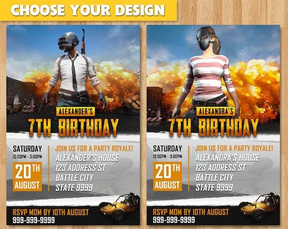 PlayerUnknown's Battleground Birthday Invitation PUBG