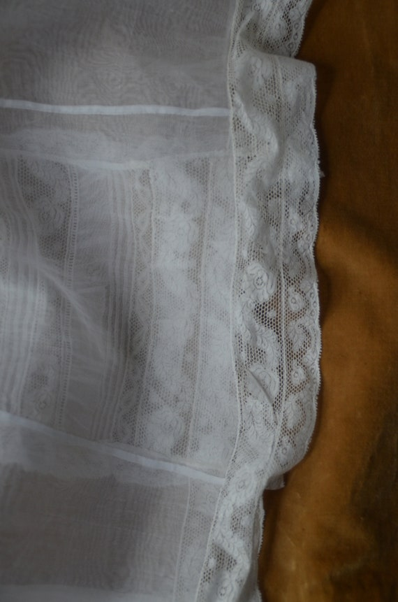 Antique French heirloom organza and lace baptism … - image 10