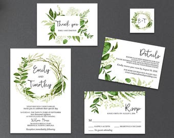 Wedding Invitation Packages.Wedding Invitation Kits Etsy