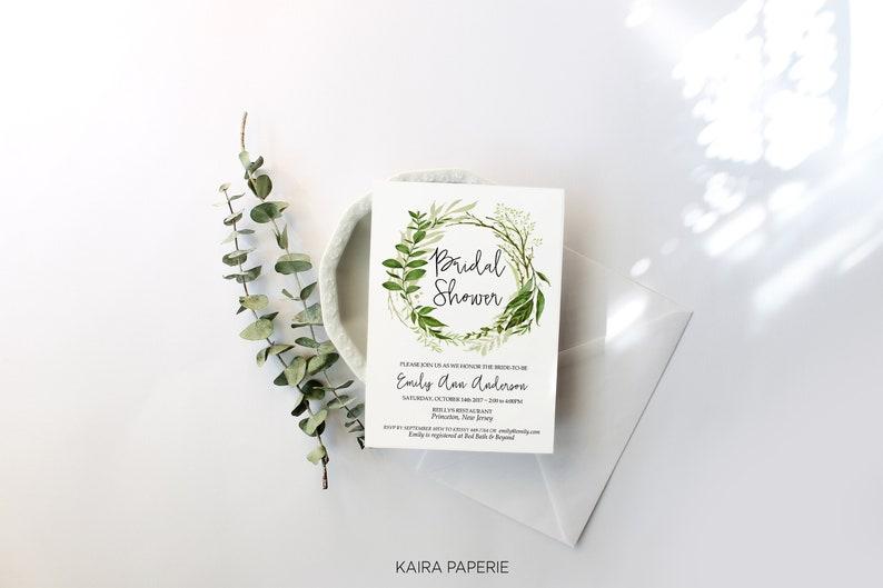 Edit Yourself Bridal Shower Invitation Printable Template image 0