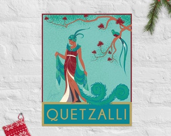 Quetzalli Poster  – Indigenous Central American Wall Art