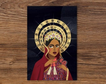 La Madonna Central American Art Standard Postcard
