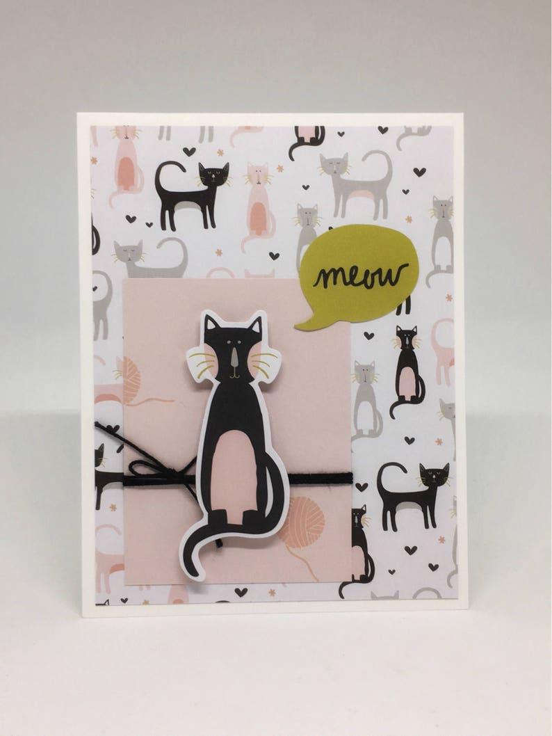Cat Lover Card Set Handmade