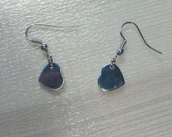 Earrings and her hearts silver
