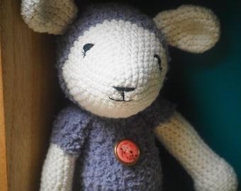 Sheep crochet blanket
