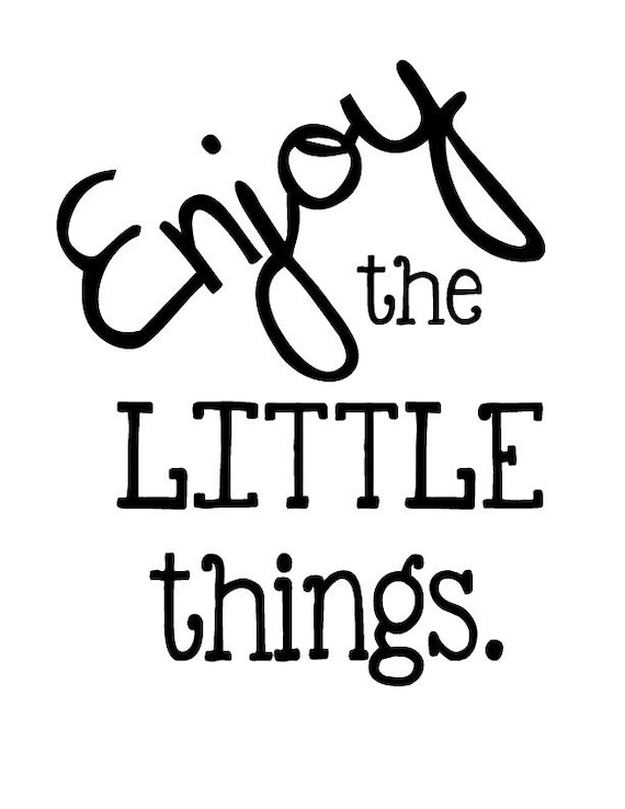 """ENJOY THE LITTLE THINGS Vintage Bicycle Distressed Wood Magnet 3/"""" x 3/"""""""